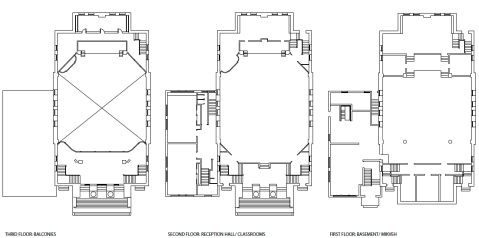 Broad Street Synagogue blueprints