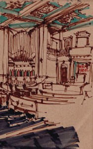 Sketch of the main sanctuary
